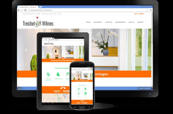 Website für Kinderärzte Treichel & Wilmes - Ein Kunde der 5KÖLN80 Internetagentur