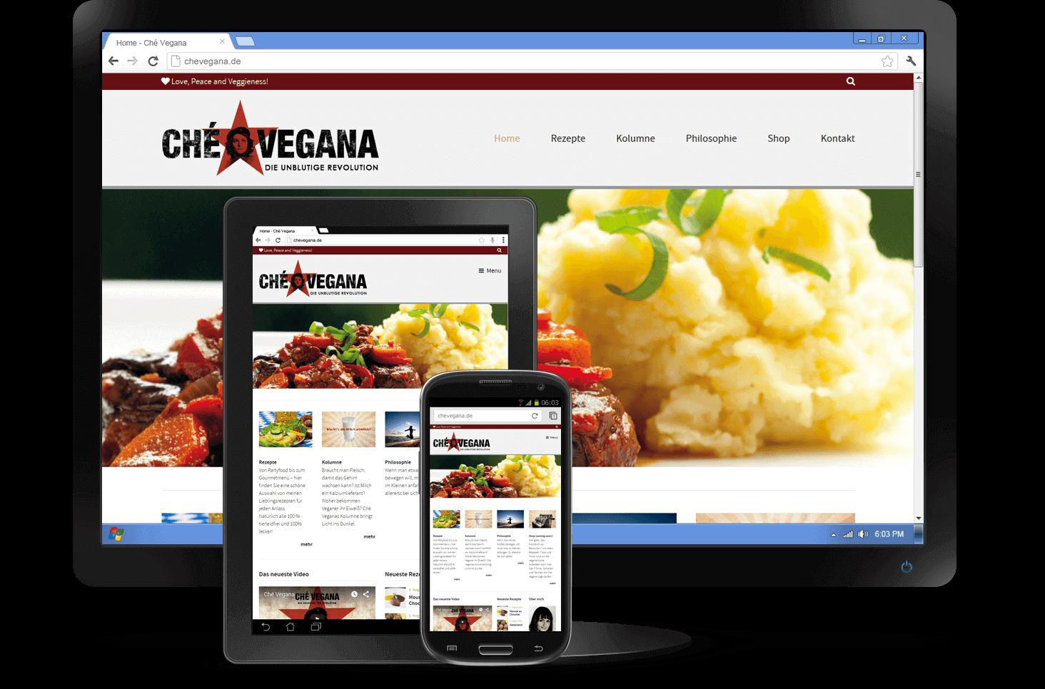 Responsive Design - Website Ché Vegana: Internetagentur Köln