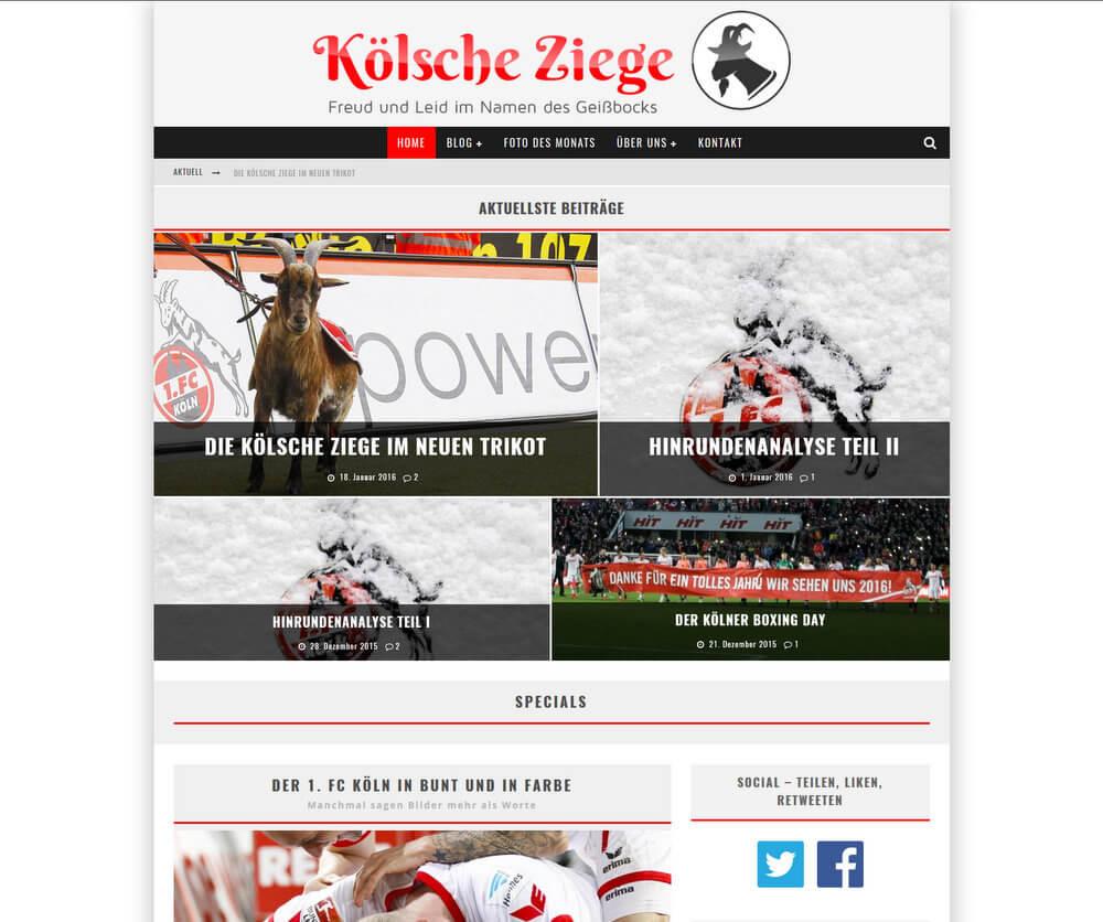 Blog: Kölsche Ziege - Responsive Design
