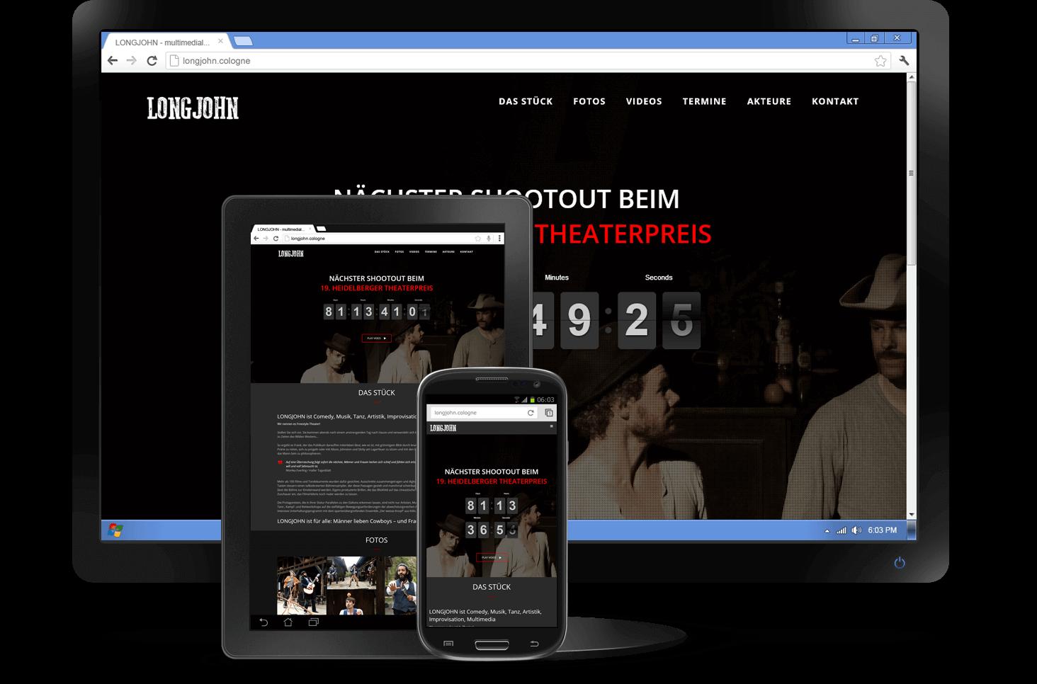 Responsive Design - Website LONGJOHN