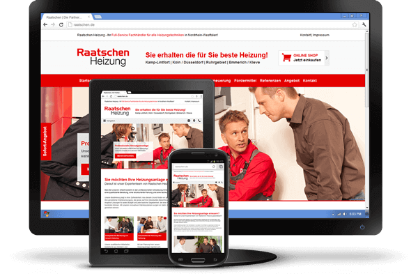 Responsive Design - Website Raatschen