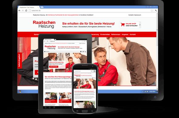 Responsive Design - Website Raatschen