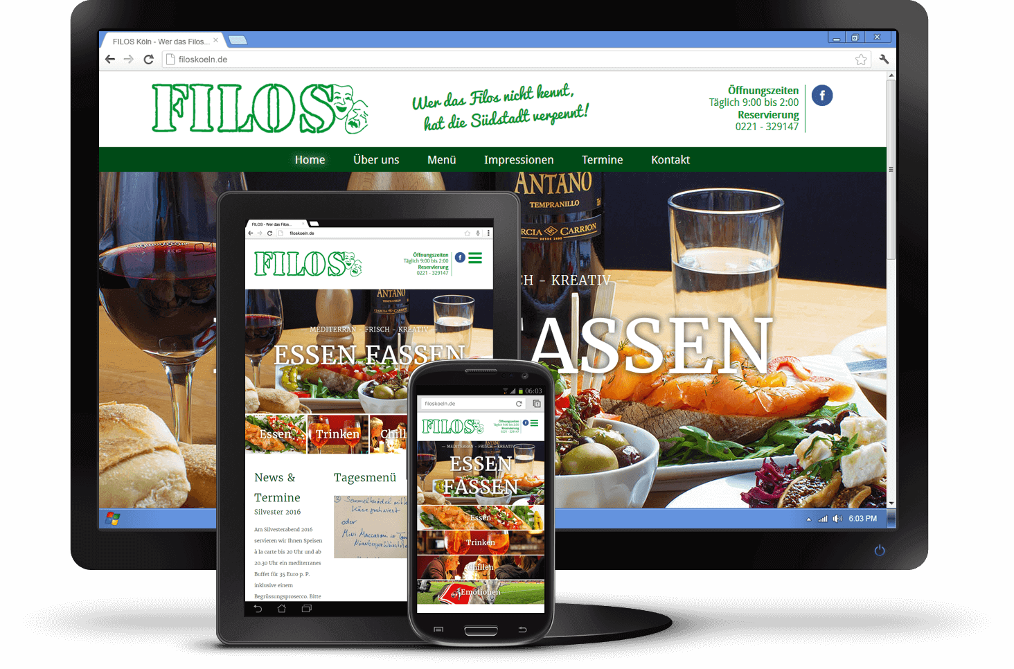 Responsive Design - Website FILOS