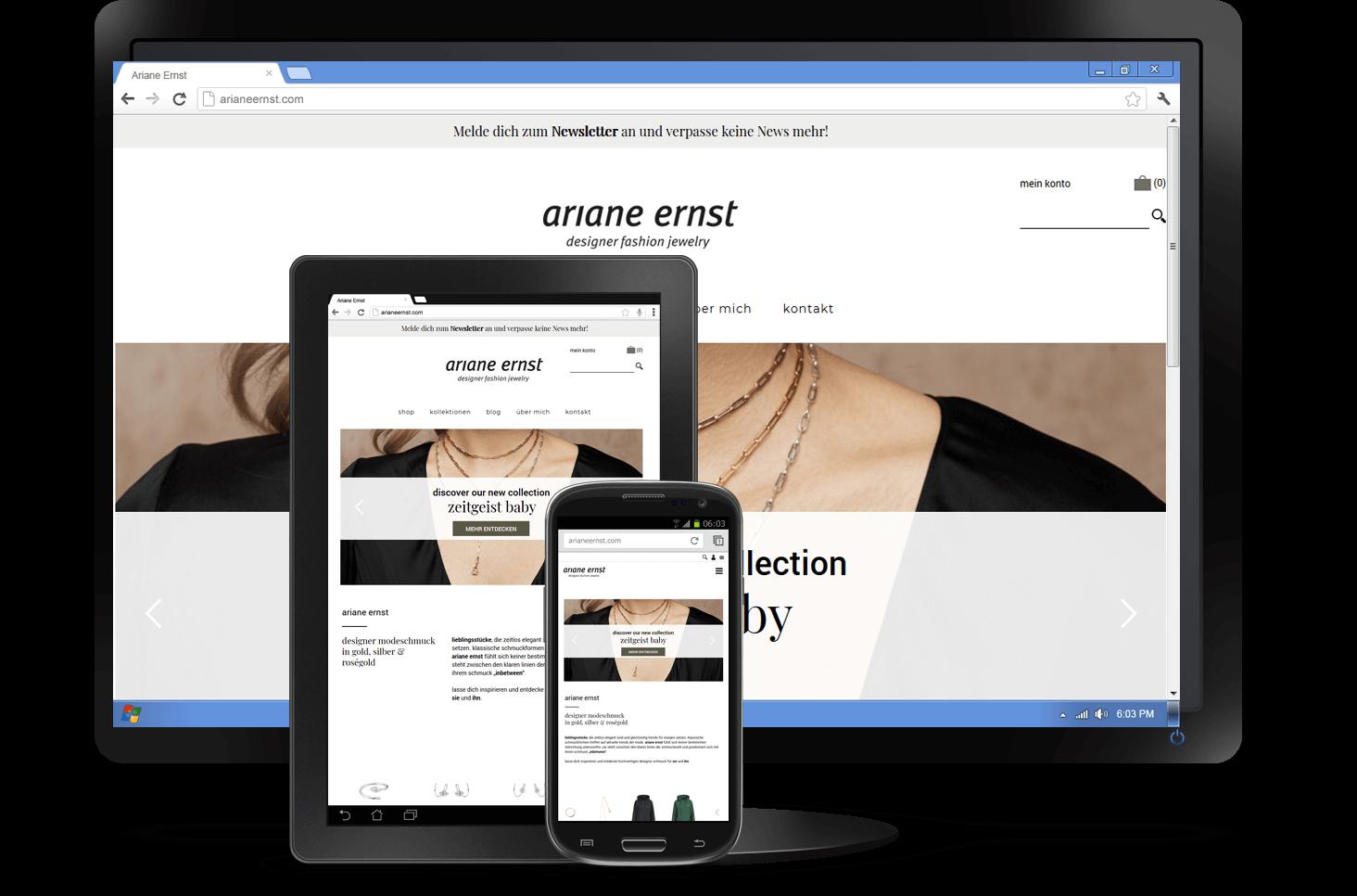 Responsive Design - WooCommerce Shop Ariane Ernst